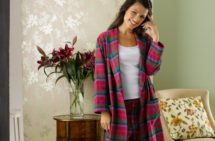 Tartan Ladies Bathrobe