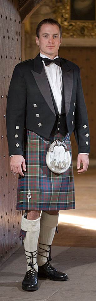 Traditional tartan kilts