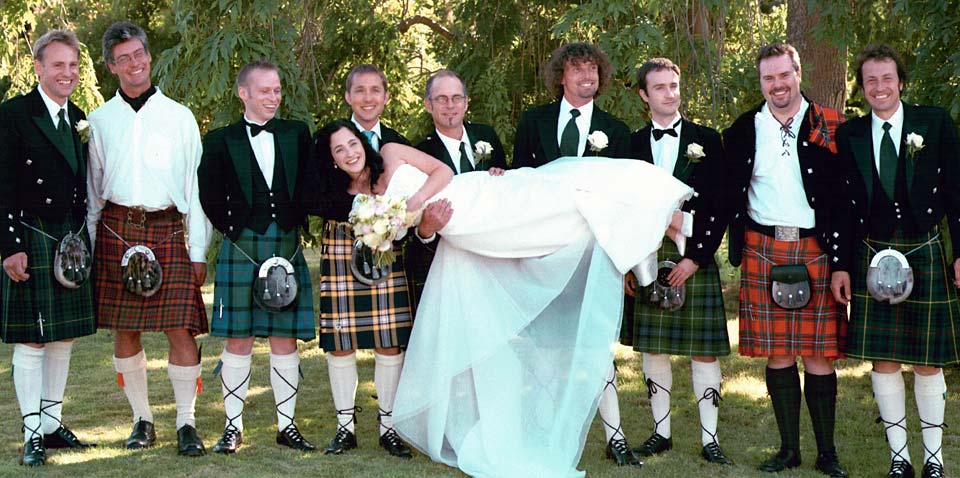 Scottish black wedding