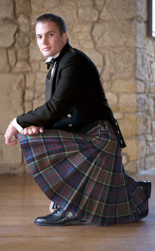 Shown in MacDonald of Clanranald Muted tartan