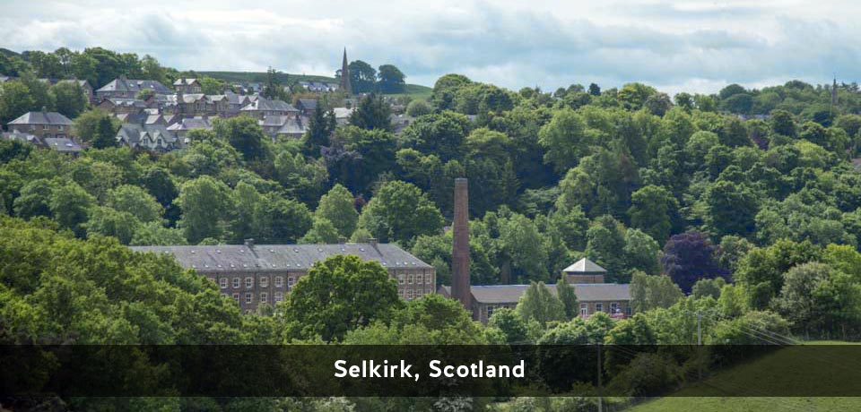 View over the Mill district of Selkirk