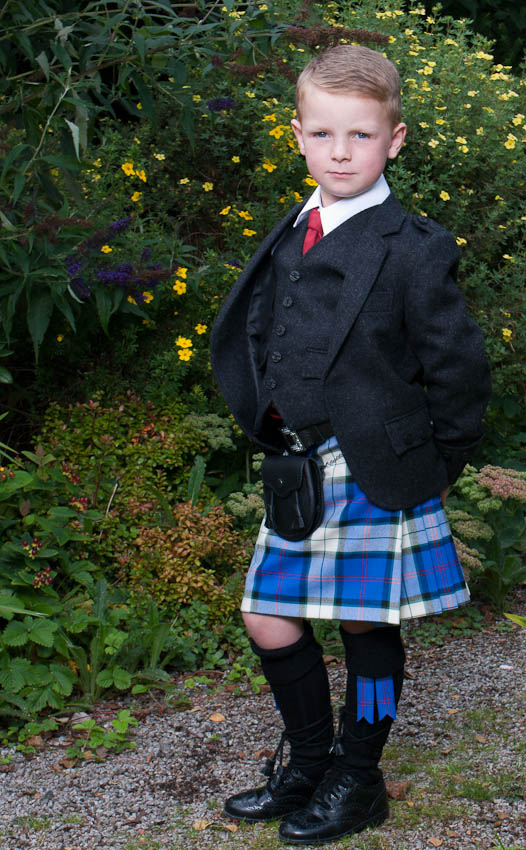 Boy's Tweed Argyll Kilt Outfit