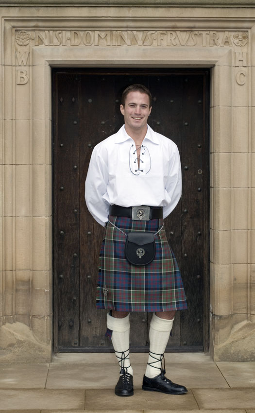 Classic Jacobite Kilt Outfit, with Clan accessories