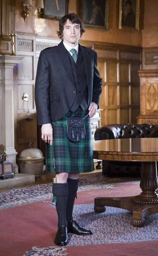 Classic Tweed Crail Kilt Outfit, with Luxury accessories