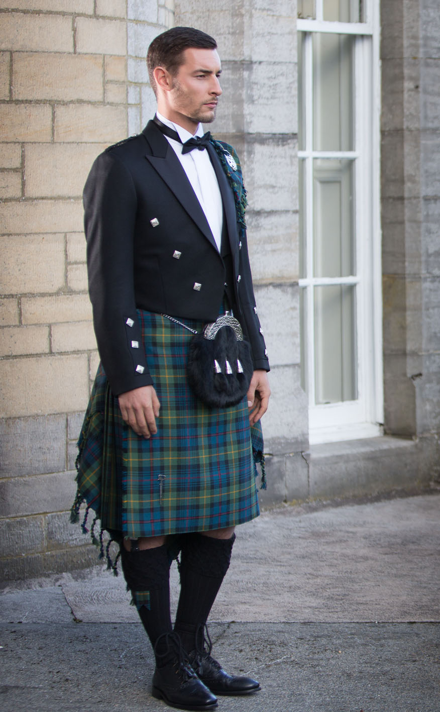 Classic Prince Charlie Kilt Outfit, with Luxury accessories