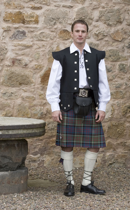 Classic Jacobite Kilt Outfit, with Chieftain vest