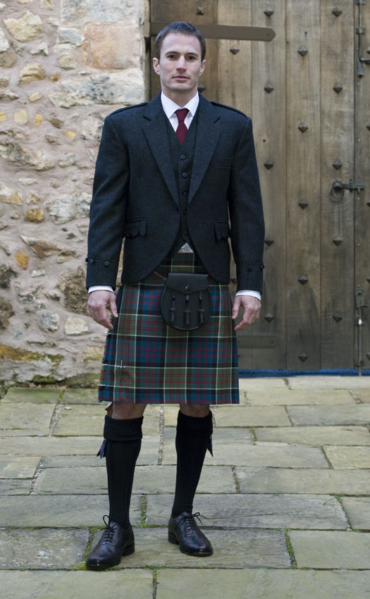 Classic Tweed Argyll Kilt Outfit