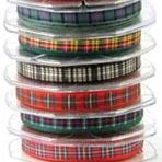 tartan ribbon & bows