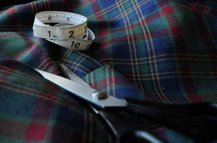 Tartan and plaid fabrics and materials