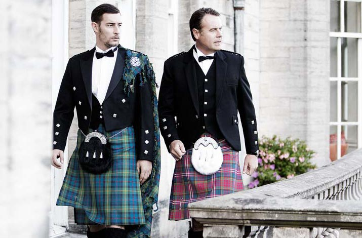 Kilts and kilt outfits.