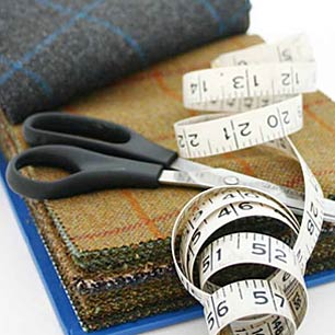 Tweed and Harris Tweed cut fabrics
