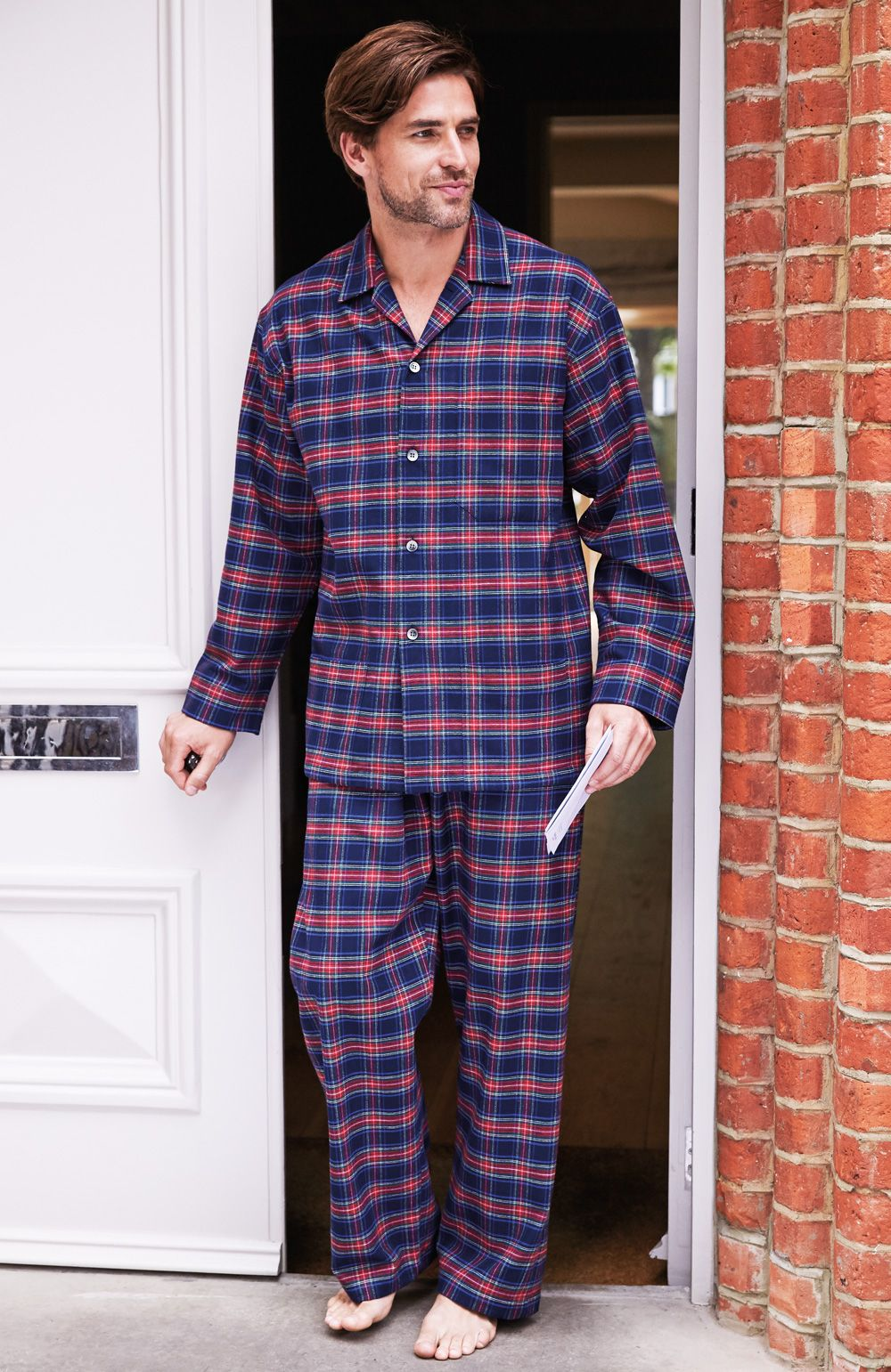 Mens Brushed Cotton Pyjamas by Scotweb