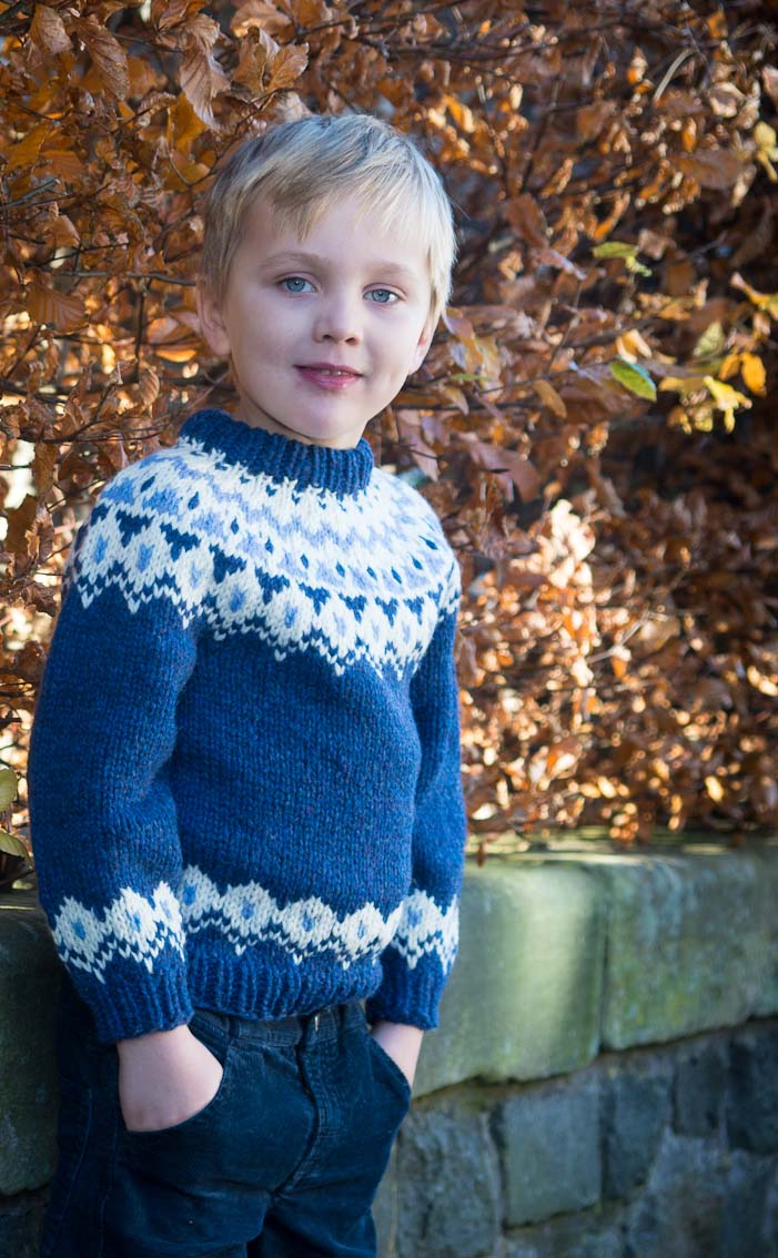 Child\'s Blue Icelandic Jumper by Scotweb