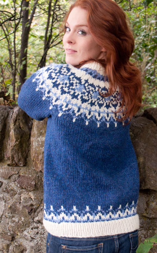 Ladies Luxury Hand Knitted Icelandic Jersey Odin By Scotweb