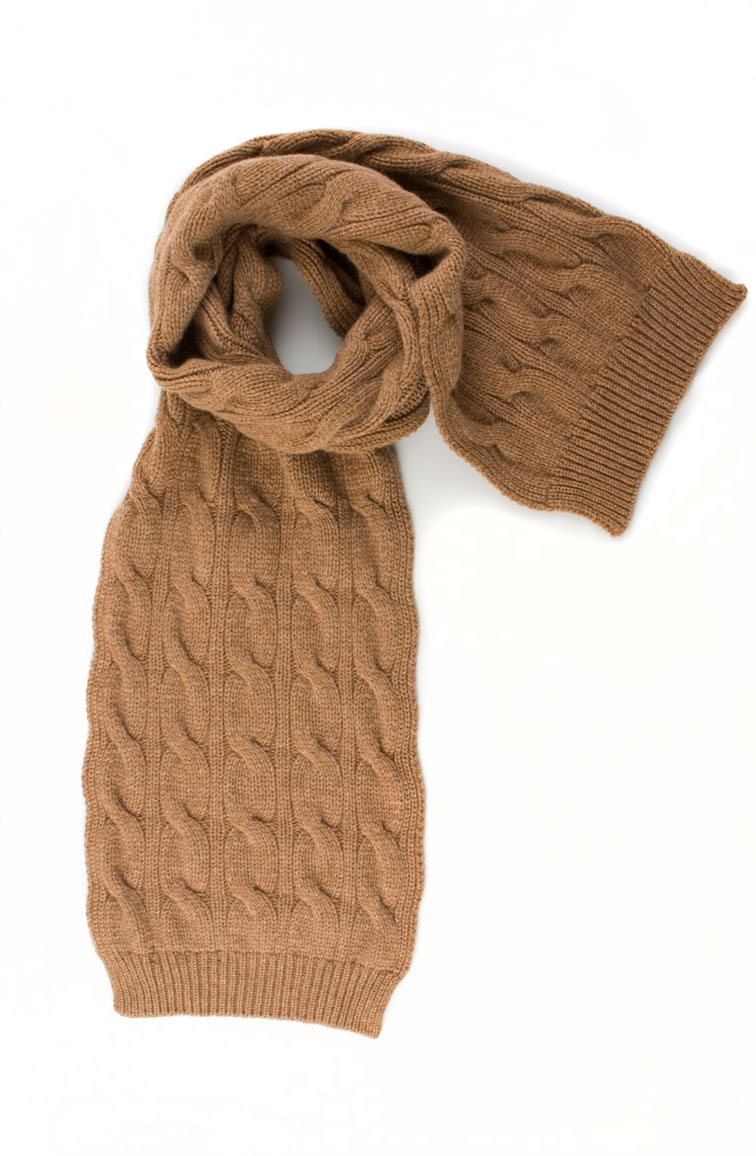 a688aebb4d Luxury Scottish Cashmere Chunky Cable Scarf by Johnstons of Elgin This item  has been discontinued. There are still some items available to buy from  stock.
