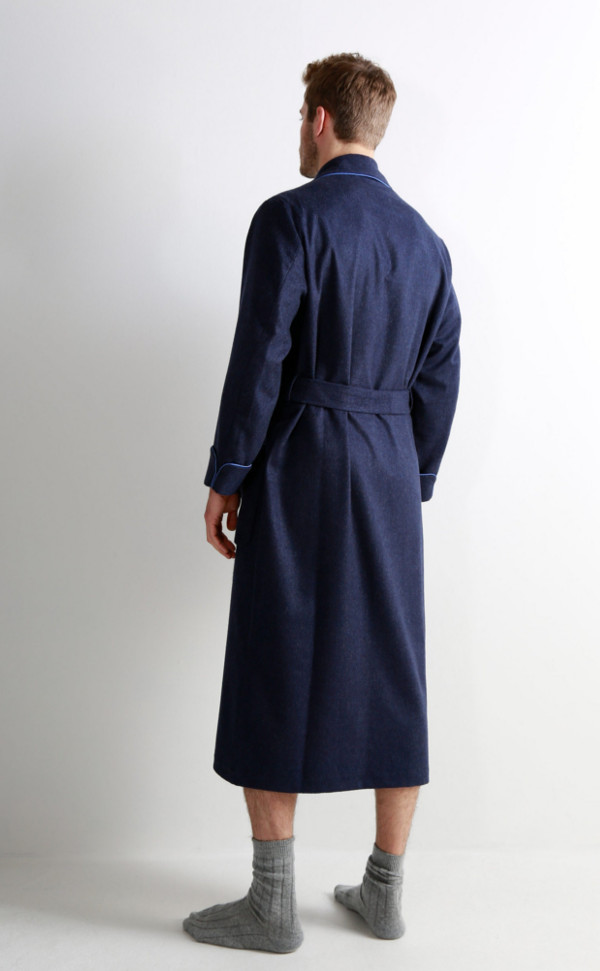 9b255d5d74 Mens Cashmere Dressing Gown with Jacquard Silk Lining by Scotweb