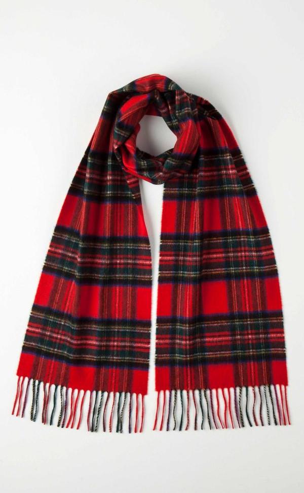 Scottish Cashmere Tartan Scarf by Scotweb