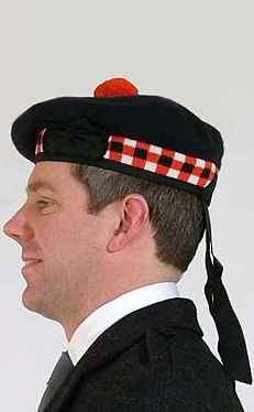 2fd0a55d6a6 Diced Balmoral Hat by Scotweb