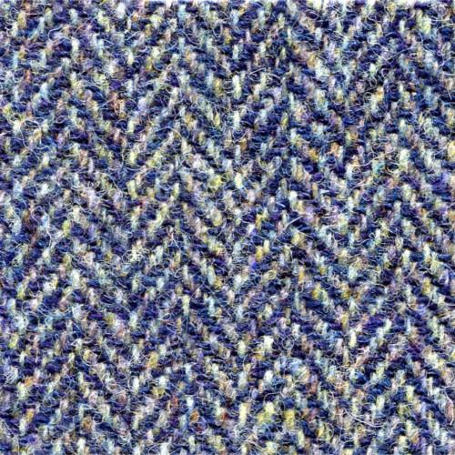 Blue and Tan Herringbone