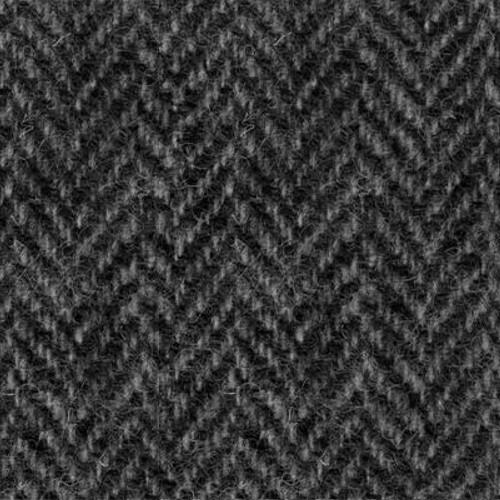 Grey and Black Herringbone