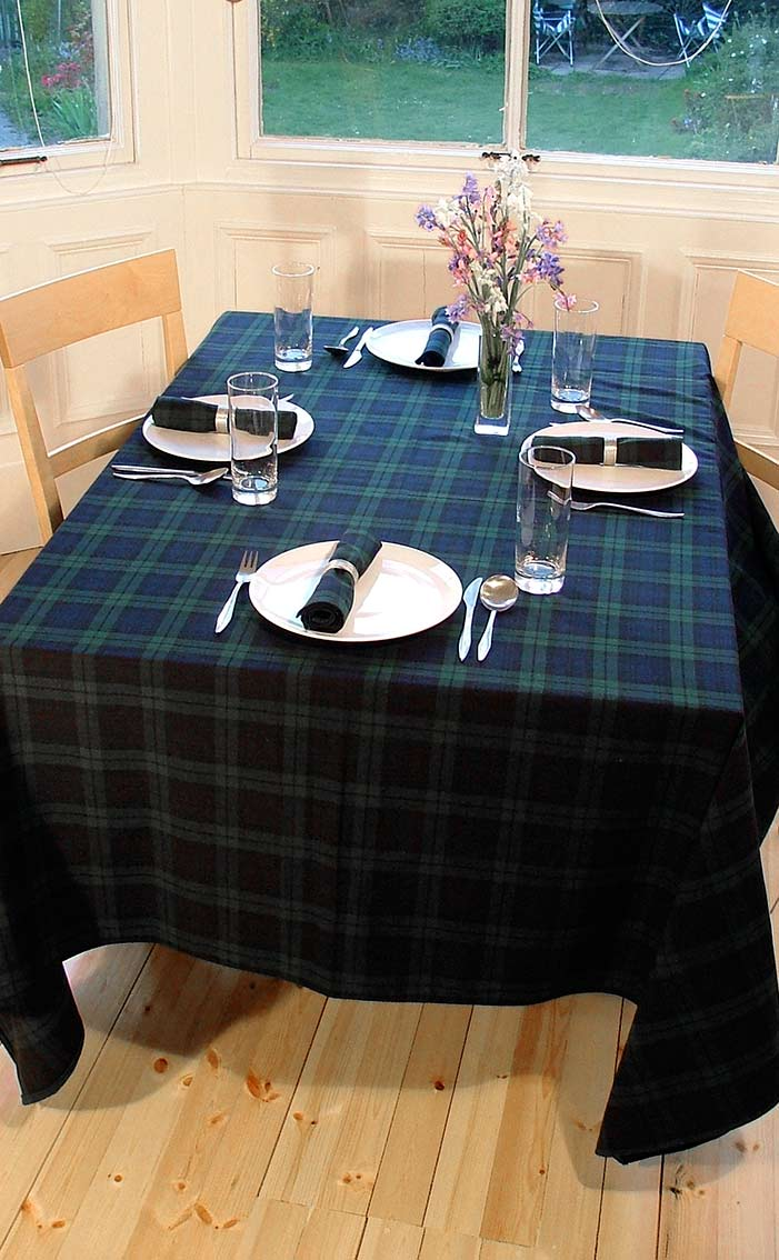 Genial Rectangular Tartan Tablecloth By Scotweb