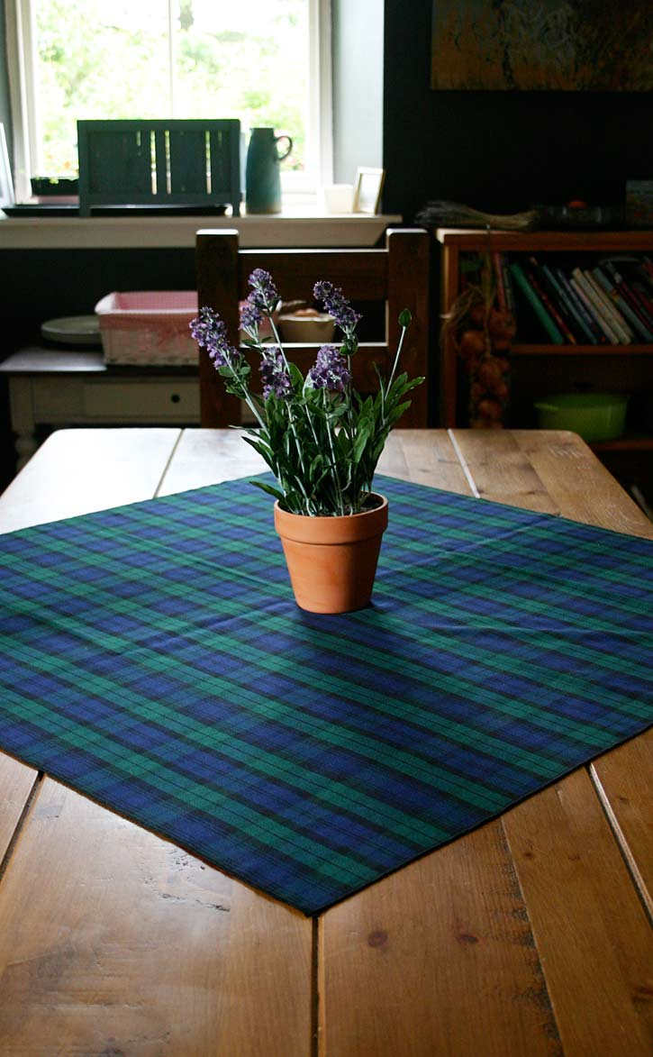 Bon Square Tartan Tablecloth By Scotweb