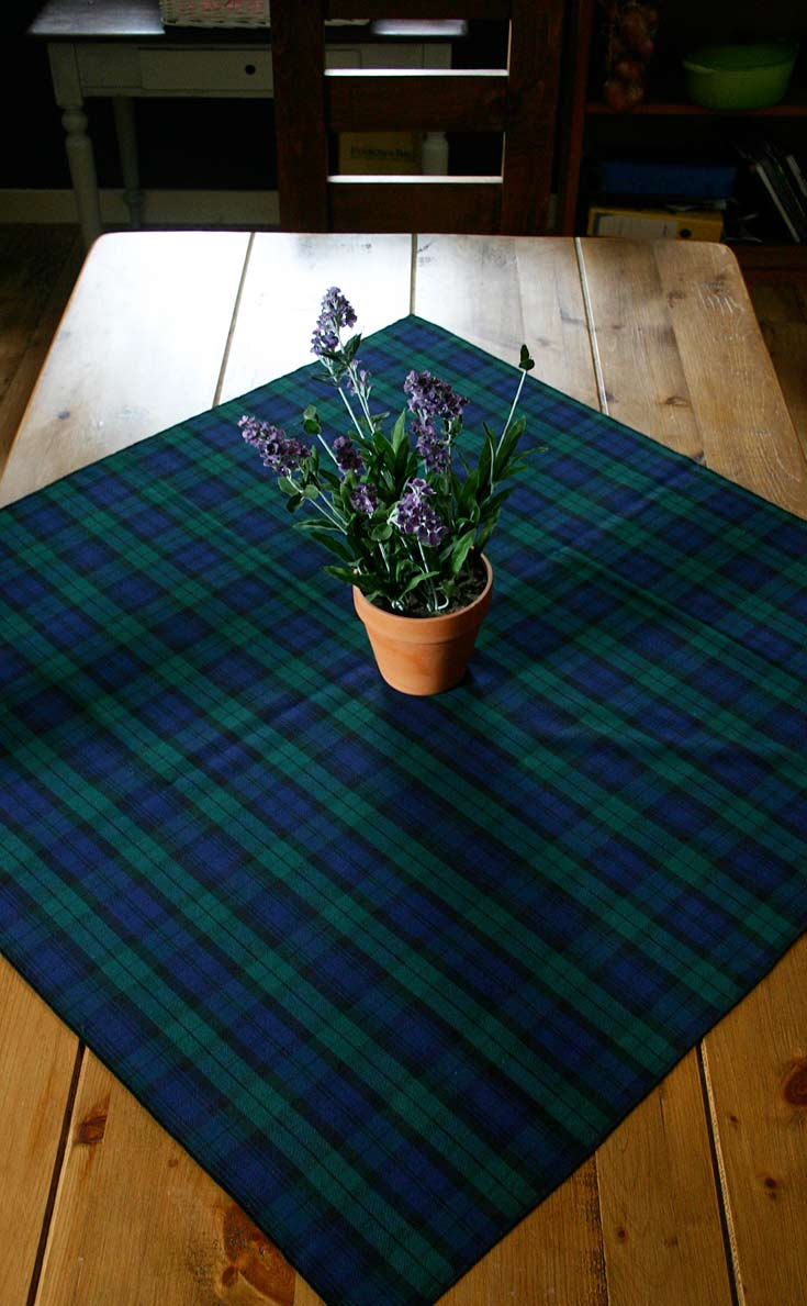 Square Tartan Tablecloth By Scotweb