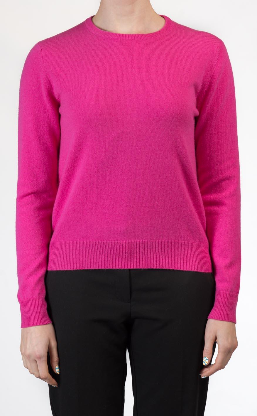 Ladies Cashmere Crew Neck Sweater by Scotweb