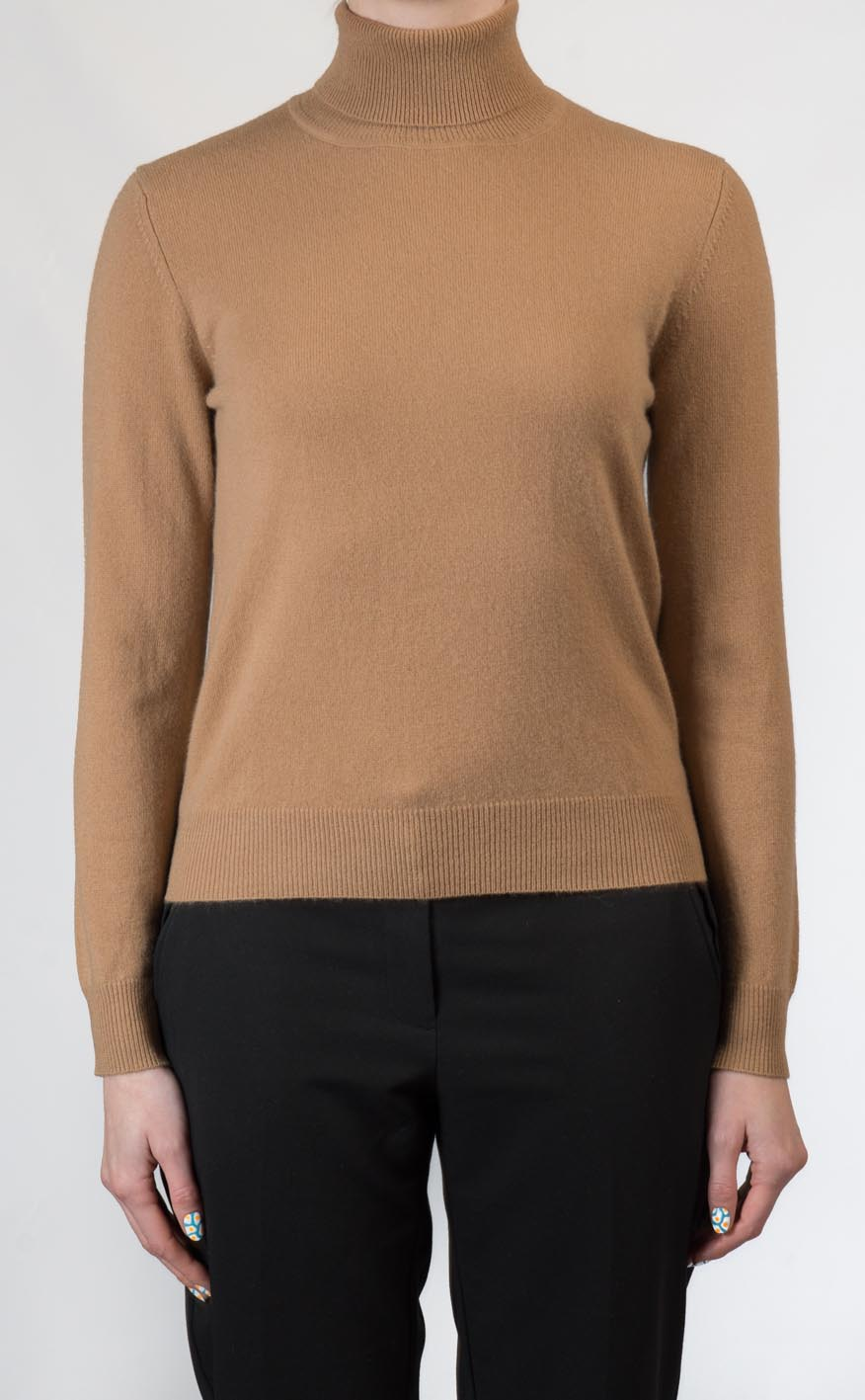 5e960e7803b Ladies Cashmere Roll Neck Sweater by Scotweb
