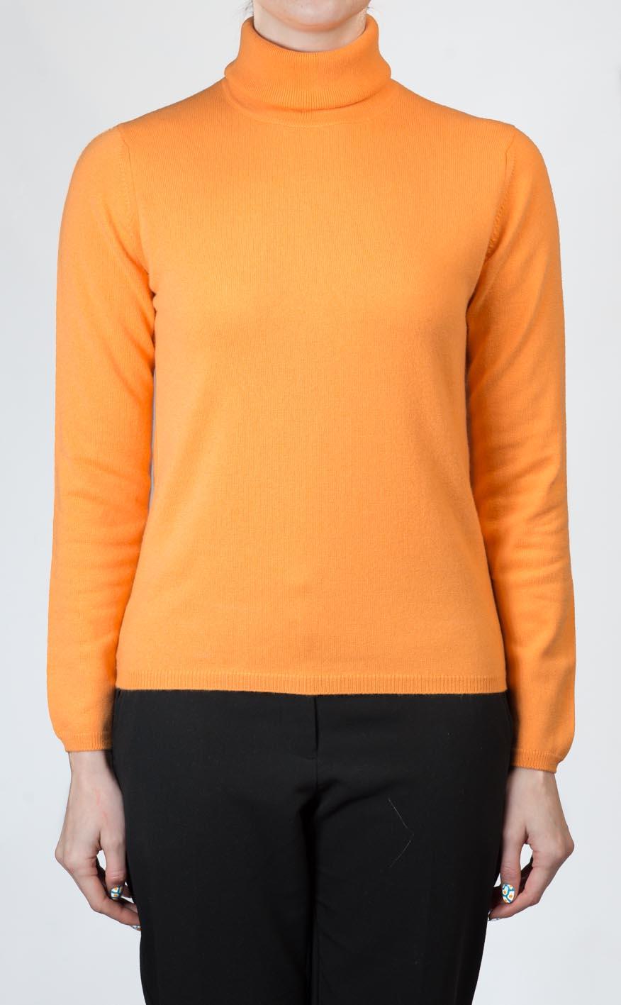Ladies Luxury Scottish Cashmere Sweater, Roll Neck by Scotweb