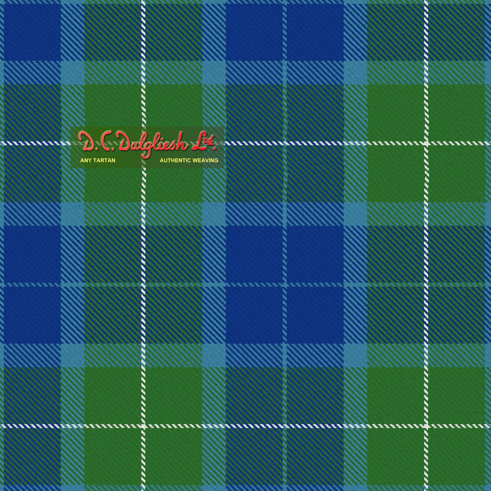 Wallace Blue Fabric By Dc Dalgliesh Hand Crafted Tartans
