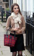 Ladies Tartan 'Bucket' Handbag & Purse