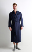 Mens Cashmere Dressing Gown with Jacquard Silk Lining