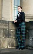 Military-Style Fishtail Back Tartan Trews
