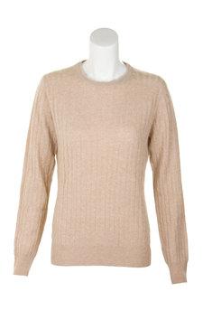 Scotweb Originals. Ladies Cashmere Cable Crew Neck Sweater c0d9f7583