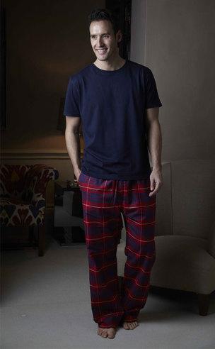 Mens Brushed Pyjama Trousers
