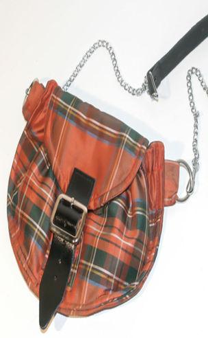 Tartan 'Sporran' Bag in Silk