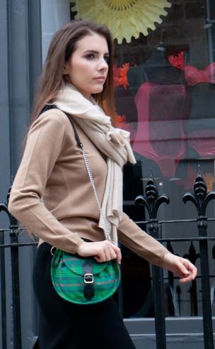 Ladies Tartan 'Sporran' Silk Handbag