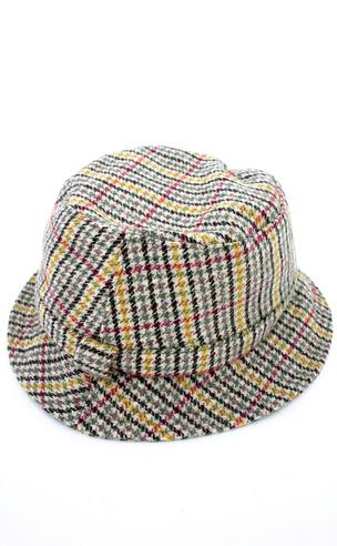 Houndstooth Tweed Poacher Hat