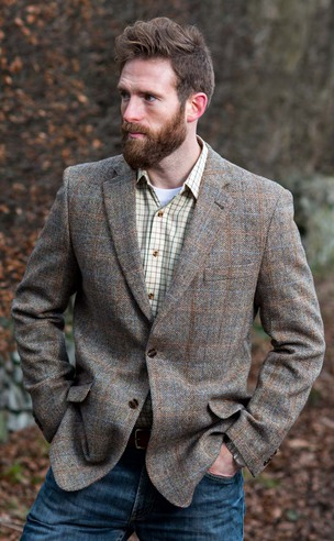Hamish Slim Fit Harris Tweed Jacket