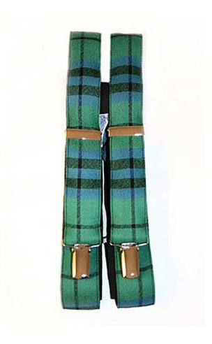 Luxury Tartan Wool Braces