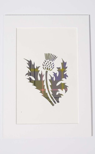 Handcrafted Tartan Silhouette: Thistle