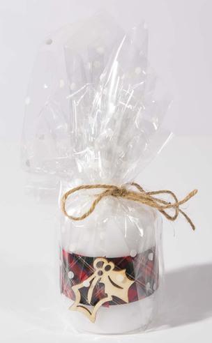 Handmade Christmas Candle: Holly