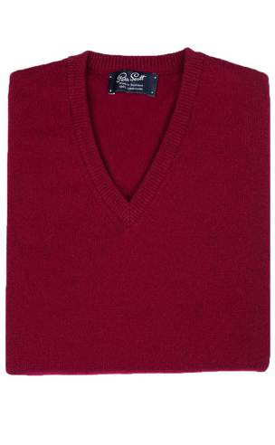 Gents Lambswool V-Neck Sweater