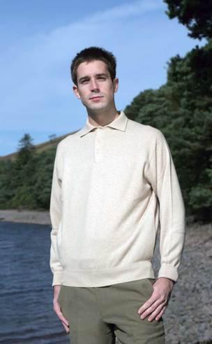 'Oxton' Cashmere Sport Shirt in 'Linen'