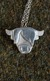 Silver Scottish Highland Coo Necklace
