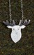 Silver Scottish Stag Necklace