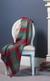 Luxury Cashmere Throw, Merchiston Cardinal Blue plaid