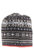Mens Snowburst Fairisle Beanie Hat