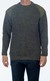 Heavy Knit Wool Sweater with Suede Patches